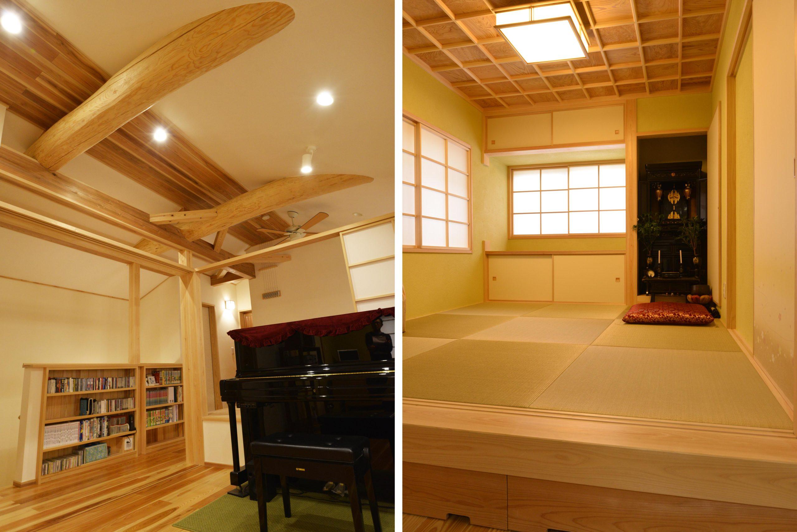 2階ホール、小上がり和室